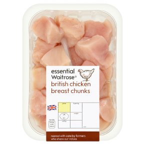essential Waitrose British chicken breast chunks