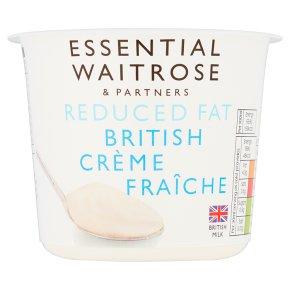 essential Waitrose Reduced Fat British Crème Fraîche