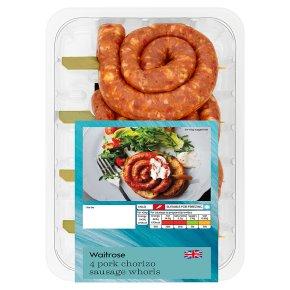 Waitrose chorizo style sausage whorls