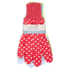 Waitrose Ladies Cotton Triple Pack Gloves