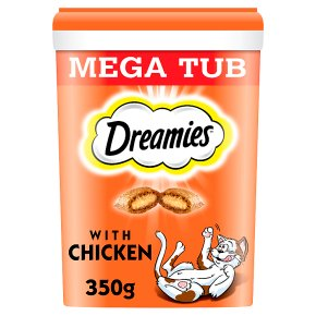 Dreamies with Chicken Mega Tub