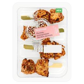 Waitrose World Deli Harissa, Pomegranate Chicken Skewers