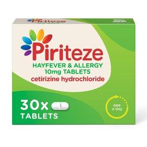 Piriteze Allergy Tablets