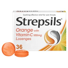 Strepsils 36 orange with vitamin C  lozenges