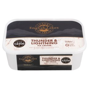 English Lakes thunder & lightening ice cream