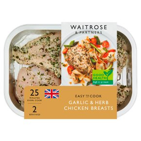 Waitrose Easy to Cook garlic & herb chicken