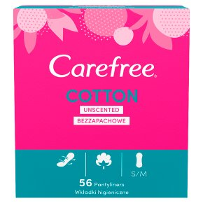 Carefree cotton pantyliners