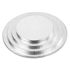 Tala 10 round Silver 12mm Cake Drum