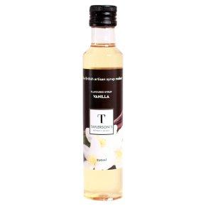 Taylerson's fine vanilla syrup