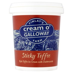 Cream o'Galloway sticky toffee ice cream