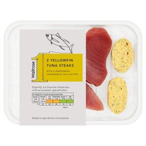 Waitrose 1 yellowfin tuna steaks
