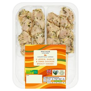 Waitrose Lemon, Garlic & Herb Chicken Breast Kebab