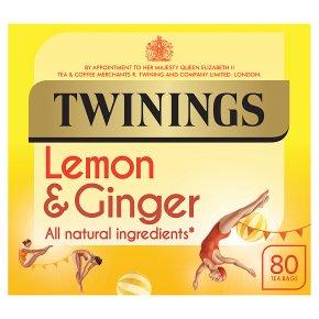 Twinings Lemon & Ginger 80 Teabags