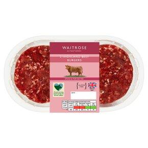 Waitrose 2 Highland beef burgers