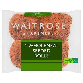 Waitrose LoveLife 4 wholemeal seeded rolls