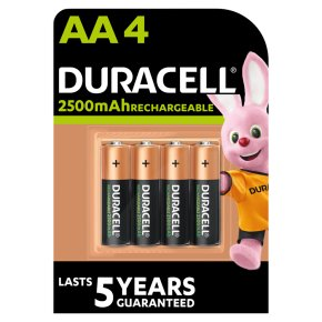 Duracell Rechargeable Precharged AA Batteries 2400mAh NiMH