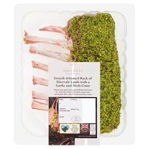 Waitrose 1 Garlic & Herb Rack Of Abervale Lamb
