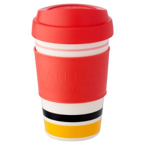 Waitrose Red Stripe Coffee Cup
