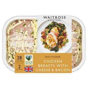 Waitrose Easy To Cook chicken breasts with cheese & bacon