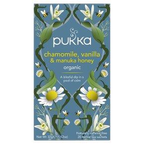Pukka Chamomile Vanilla Manuka Honey 20Herbal Tea Sachets