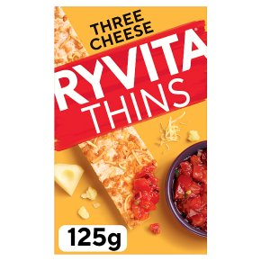 Ryvita Thins Three Cheese Flatbreads