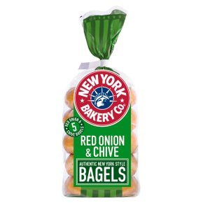 New York Bakery Co red onion & chives bagels