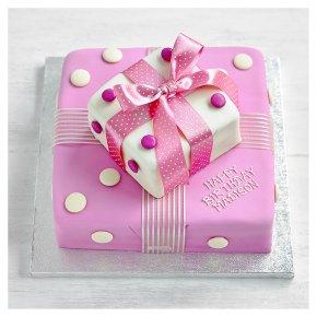 Fiona Cairns Pink Parcel Cake