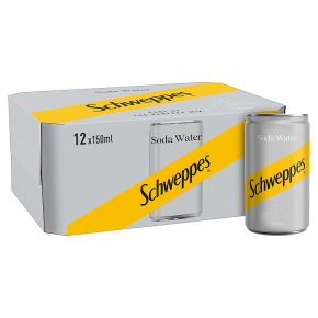 Schweppes soda water multipack cans