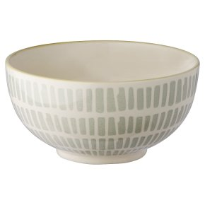 Oriental Bowl Medium Grey Blocks