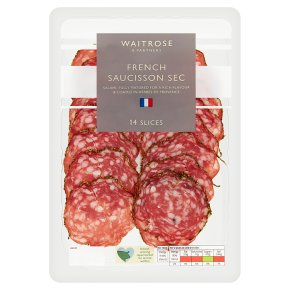 Waitrose French Saucisson Sec 14 Slices
