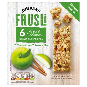 Jordans frusli bars juicy apples & sultanas with a hint of cinnamon