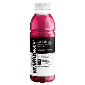 Glaceau Vitaminwater Triple Berry plastic bottle