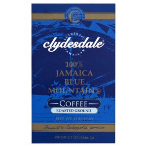 Clydesdale Jamaica Blue Mountain roasted ground coffee beans