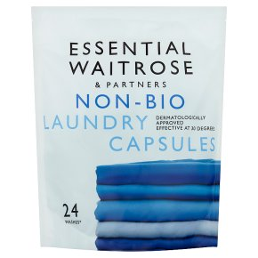 essential Waitrose non-bio laundry liquid sachets 24w