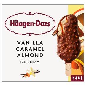 Häagen-Dazs Vanilla, Caramel and Almond Ice Cream Bars x3