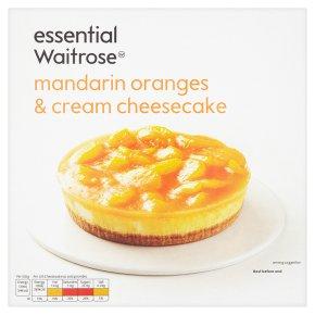 essential Waitrose frozen mandarin & cream cheesecake