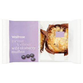 Waitrose Wild Blueberry Muffins