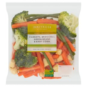 Waitrose Prepared chef's vegetable selection