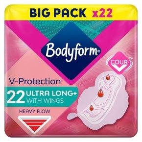 Bodyform Ultra Towels Long Wings Duo