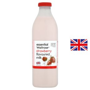 essential Waitrose strawberry flavoured milk