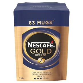 NESCAFE Gold Blend Decaff Instant Coffee Refill 150g