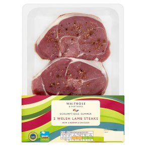 Waitrose Welsh Lamb Steaks with Rosehip & Gin