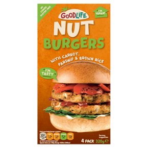 Goodlife Picador Parsnip & Sweet Carrot Nut Burger with Crunchy Cashews