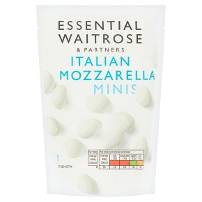 essential Waitrose Italian Mozzarella cheese cherries