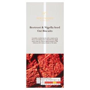 Waitrose 1 Beetroot, Nigella & Seed Oat Biscuits