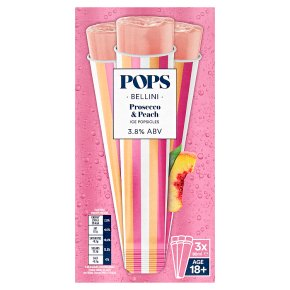 POPS Bellini Prosecco & Peach Ice Popsicle