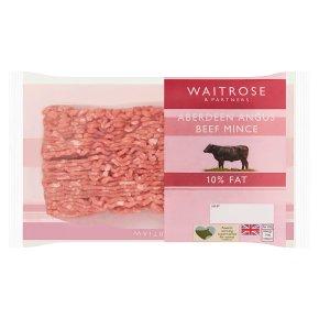 Waitrose Aberdeen Angus Beef Lean Mince 10% Fat