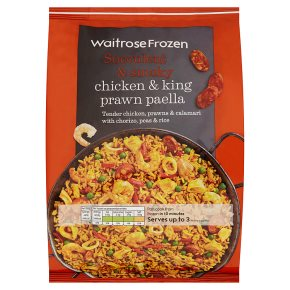 Waitrose Frozen Chicken & King Prawn Paella