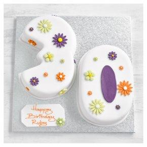 30th Birthday flowers cake