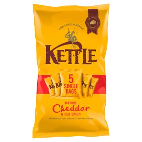 Kettle Chips Mature Cheddar & Red Onion Multipack